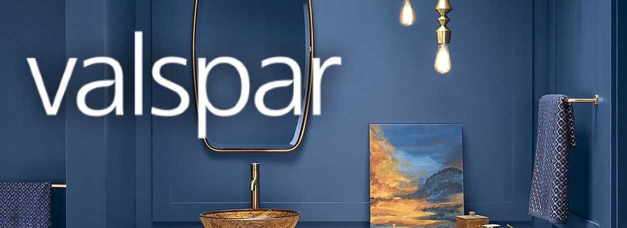 Valspar blue-painted room