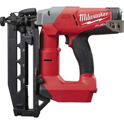 Milwaukee M18 FUEL 18 Volt Lithium-Ion Brushless 16-Gauge 2-1/2 In. Straight Cordless Finish Nailer (Bare Tool)
