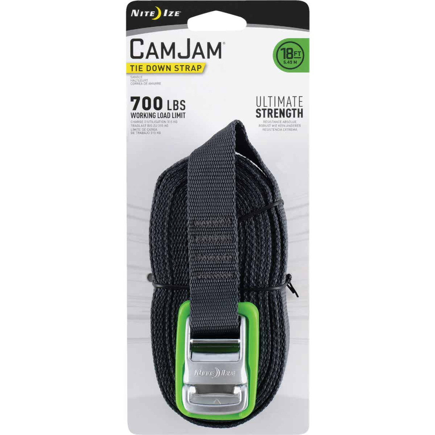 Nite Ize CamJam 1 In. x 18 Ft. 700-Lb. Working Load Limit Tie-Down Strap Image 1
