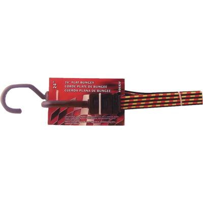 Erickson 3/4 In. x 24 In. Flat Bungee Cord, Red/Yellow