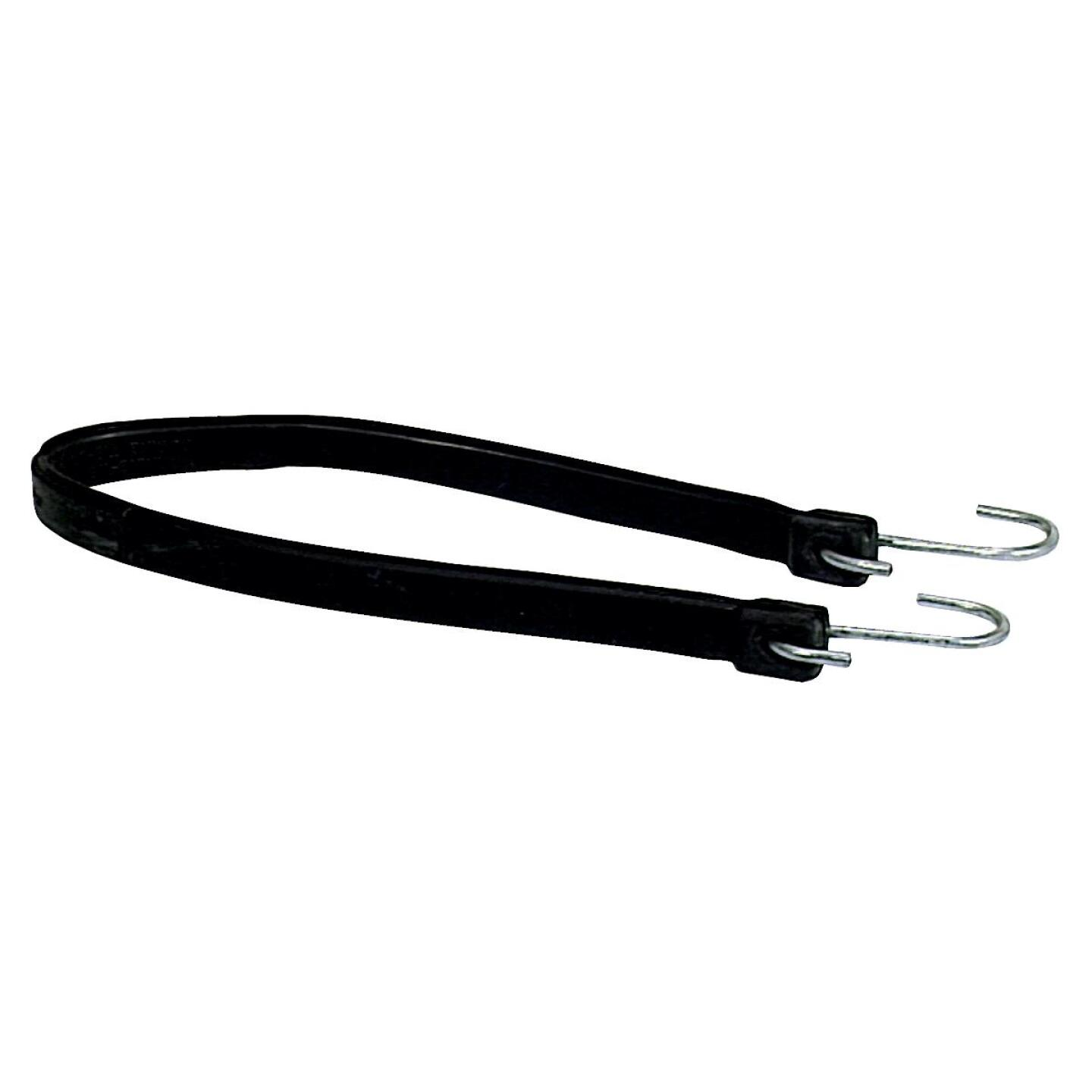 26 In. Hook-to-Hook Black Rubber Tarp Strap Image 1