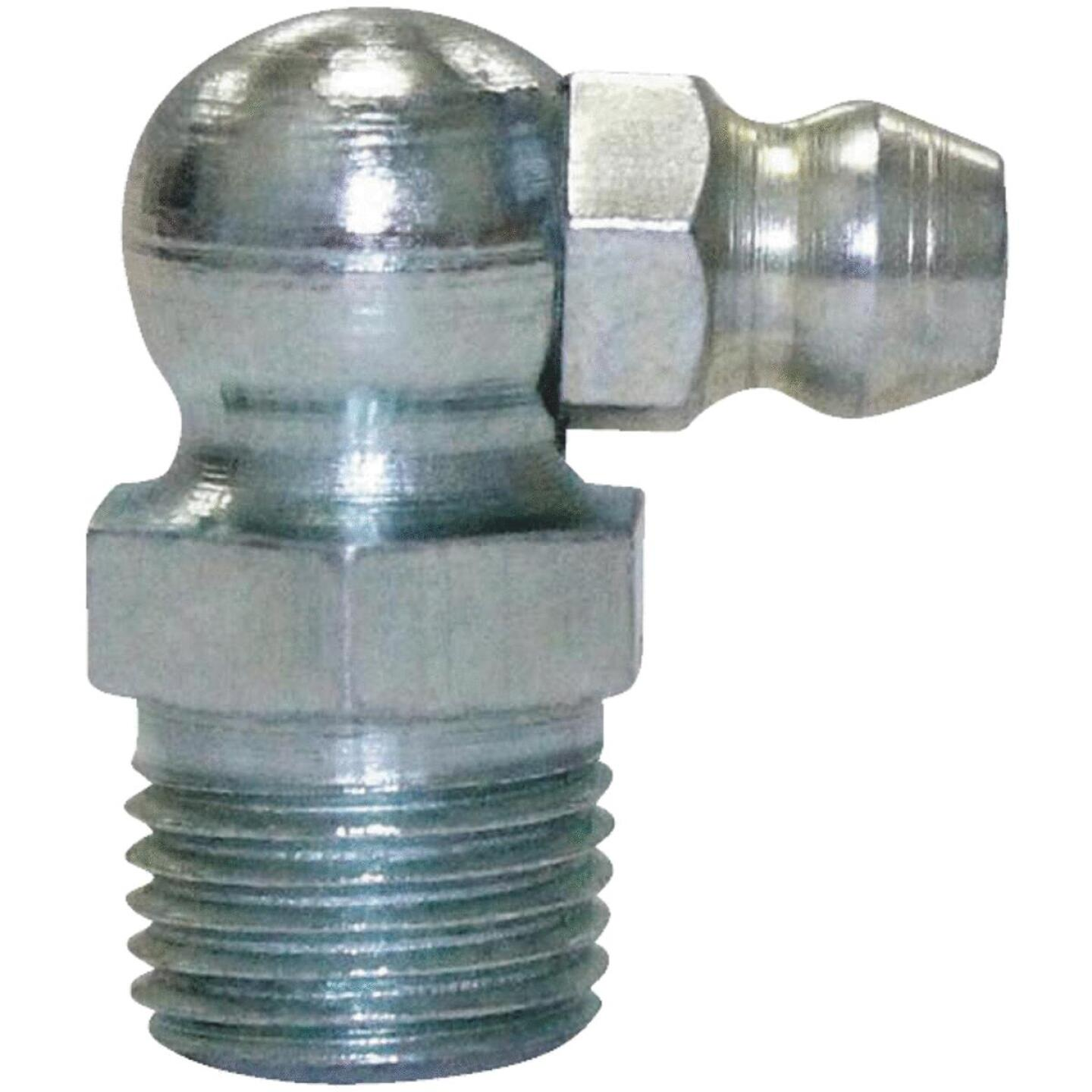 "Plews Lubrimatic 90 Deg, Short 1/8"" Grease Fitting Image 1"