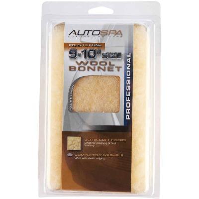 "Auto Spa 9"" To 10"" Washable Wool Polishing Bonnet"