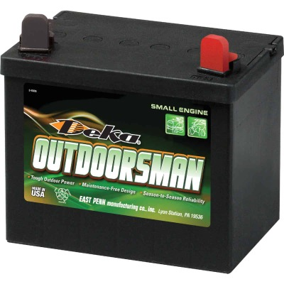 Deka Outdoorsman 12-Volt Lawn & Garden 230 CCA Small Engine Battery, Right Front Positive Terminal