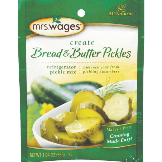Mrs. Wages 1.94 Oz. Bread & Butter Refrigerator Pickling Mix