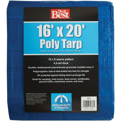 Do it Best Blue Woven 16 Ft. x 20 Ft. Medium Duty Tarp