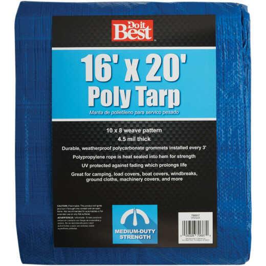 Do it Best Blue Woven 16 Ft. x 20 Ft. Medium Duty Tarp
