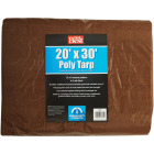 Do it Best 1 Side Green/1 Side Brown Woven 20 Ft. x 30 Ft. Medium Duty Poly Tarp Image 2