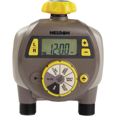 Nelson Electronic Dual Outlet Watering Timer