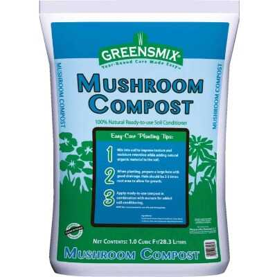 Greensmix 1 Cu. Ft. 30 Lb. Mushroom Compost