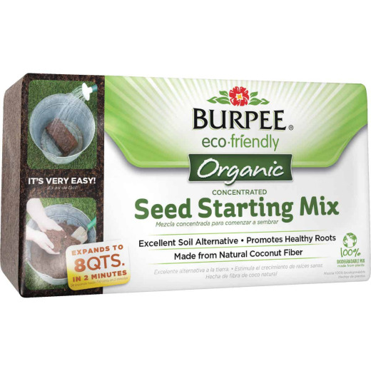 Burpee 8 Qt. 1-1/2 Lb. Concentrated Brick In-Ground Organic Seed Starting Mix