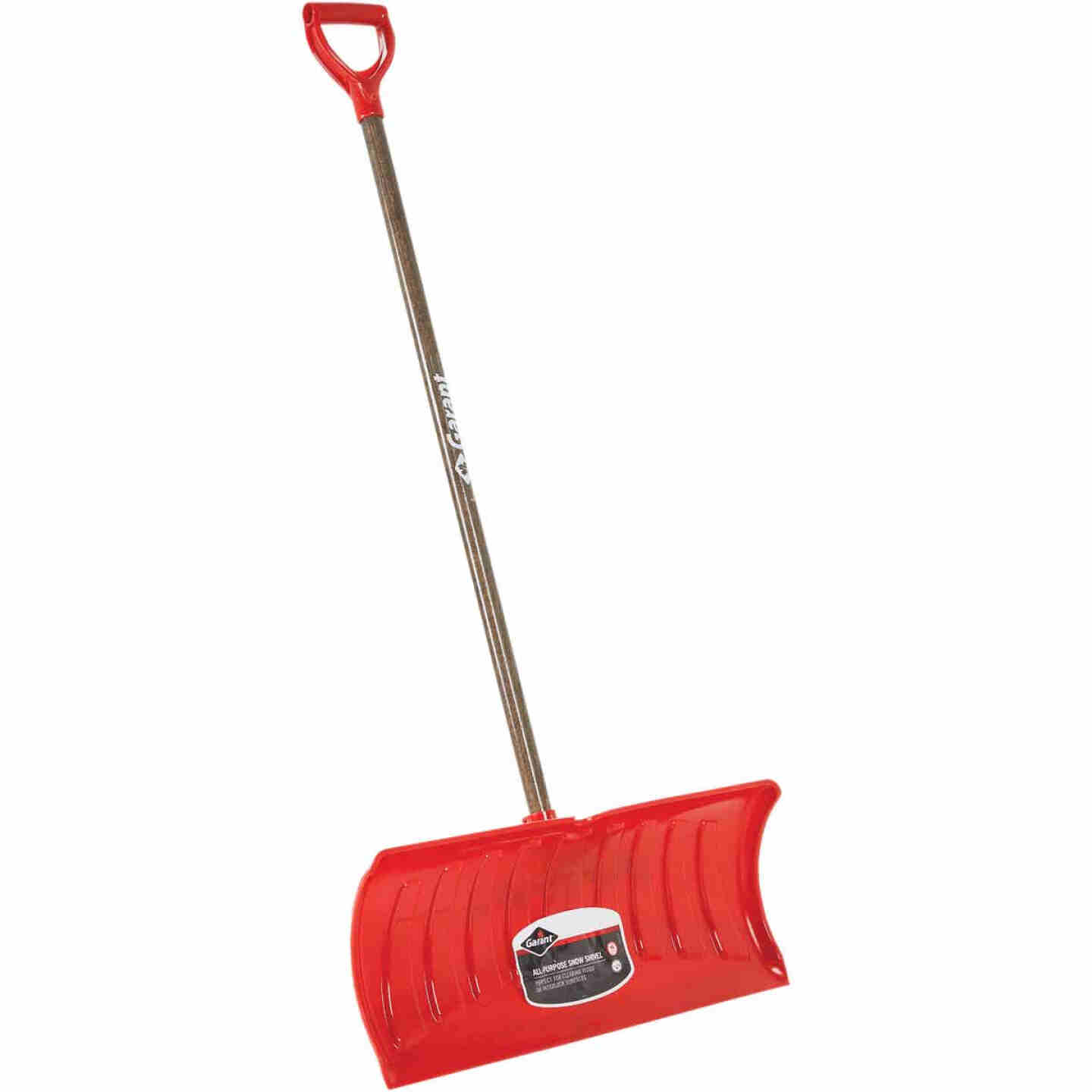 Garant Nordic 26 In. Poly Snow Pusher with 46.25 In. Wood Handle Image 1