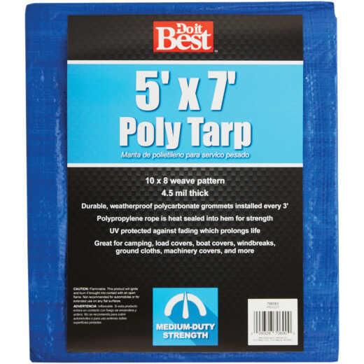 Do it Best Blue Woven 5 Ft. x 7 Ft. Medium Duty Poly Tarp