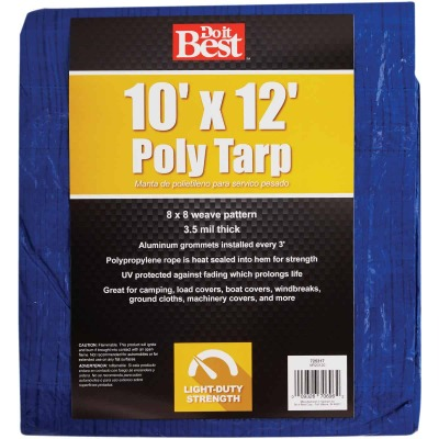 Do it Best Blue Woven 10 Ft. x 12 Ft. General Purpose Tarp