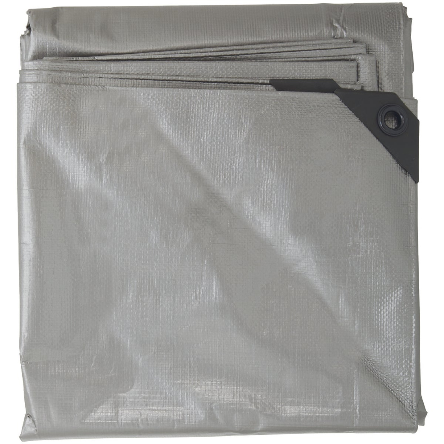 Do it Best Silver Woven 8 Ft. x 10 Ft. Heavy Duty Poly Tarp Image 2