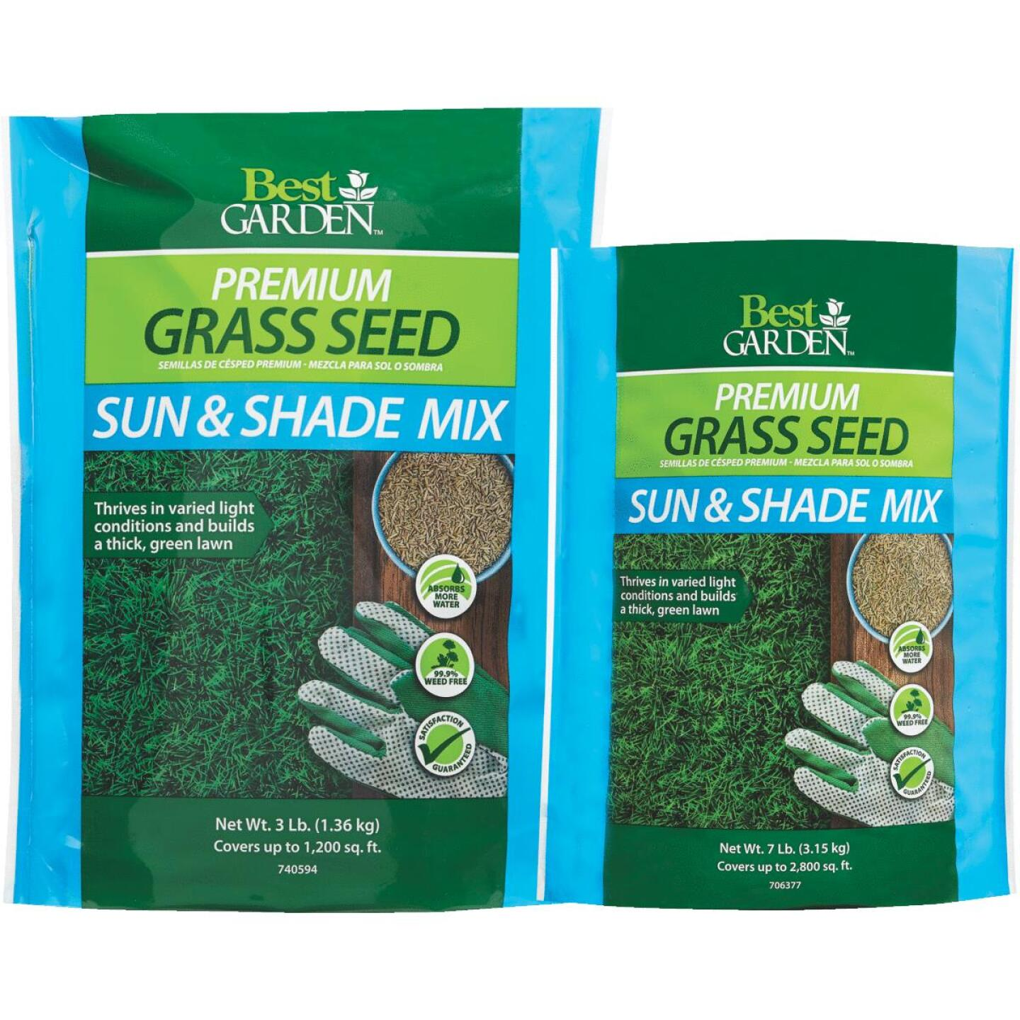 Best Garden 3 Lb. 750 Sq. Ft. Coverage Sun & Shade Grass Seed Image 2