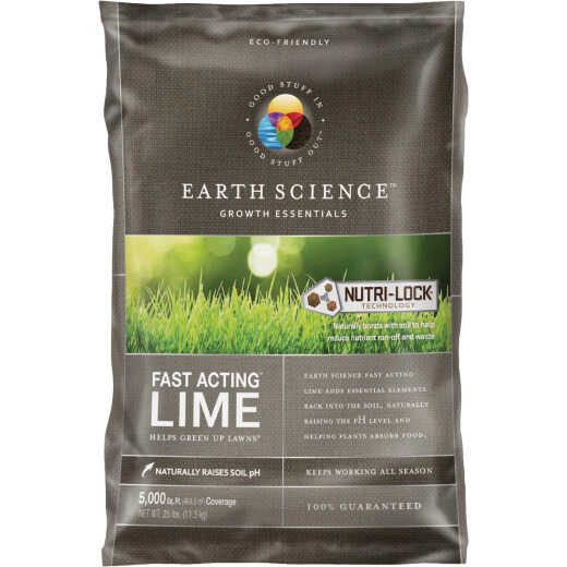 Earth Science Fast Acting 25 Lb. 5000 Sq. Ft. Coverage Lime