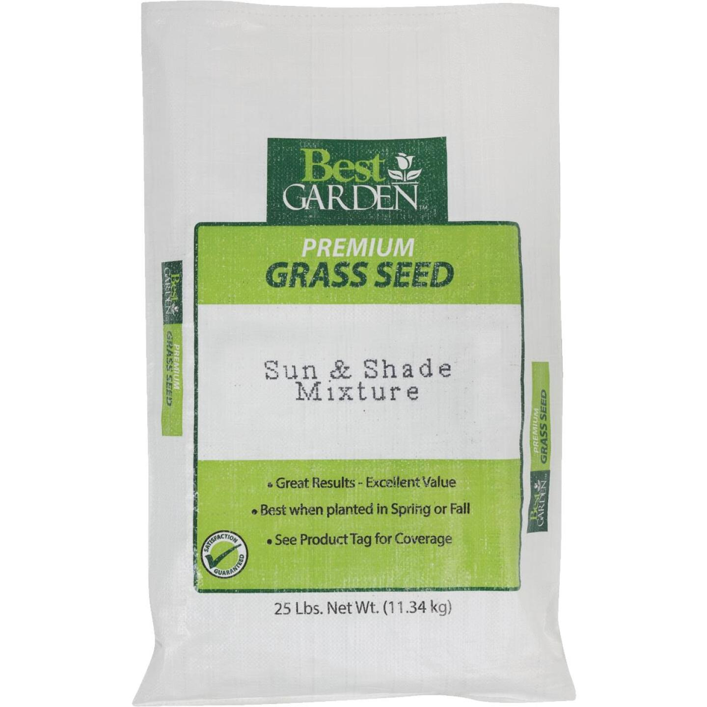 Best Garden 25 Lb. 6250 Sq. Ft. Coverage Sun & Shade Grass Seed Image 1