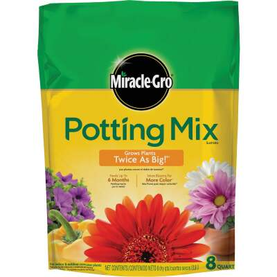 Miracle-Gro 8 Qt. 6-1/2 Lb. All Purpose Indoor & Outdoor Plants Potting Soil