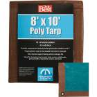 Do it Best 1 Side Green/1 Side Brown Woven 8 Ft. x 10 Ft. Medium Duty Poly Tarp Image 1