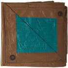 Do it Best 1 Side Green/1 Side Brown Woven 8 Ft. x 10 Ft. Medium Duty Poly Tarp Image 5