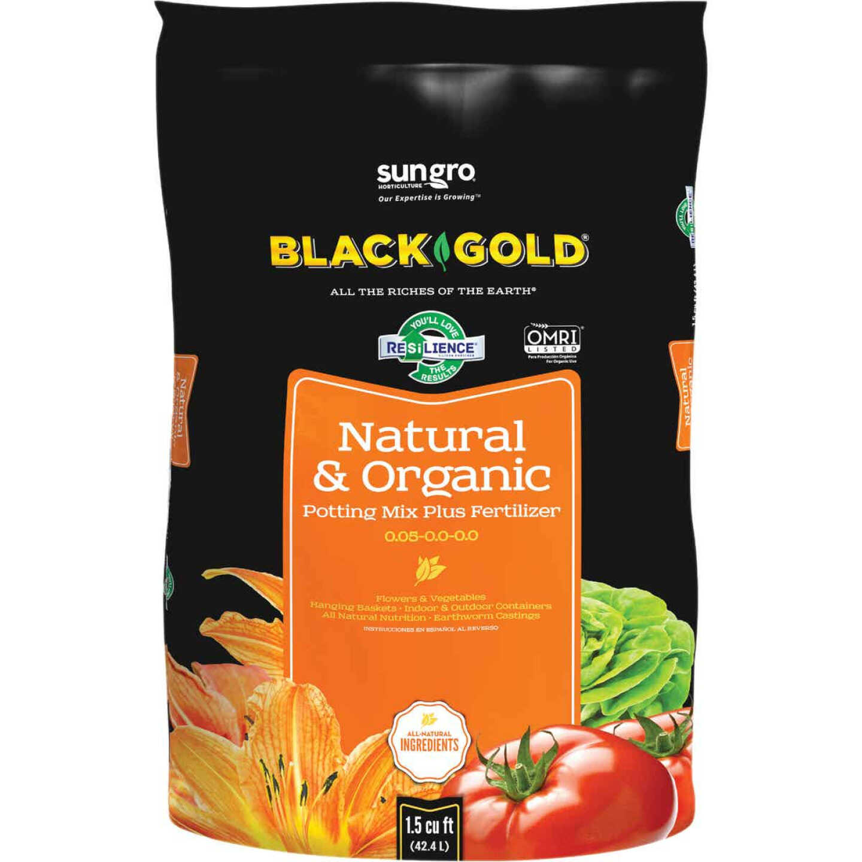 Black Gold 1.5 Cu. Ft. 38 Lb. All Purpose Natural & Organic Potting Soil Image 1
