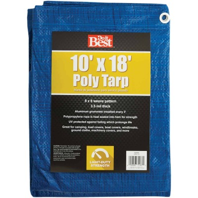 Do it Best Blue Woven 10 Ft. x 18 Ft. General Purpose Tarp