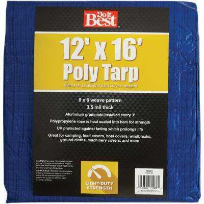 Do it Best Blue Woven 12 Ft. x 16 Ft. General Purpose Tarp