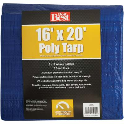 Do it Best Blue Woven 16 Ft. x 20 Ft. General Purpose Tarp