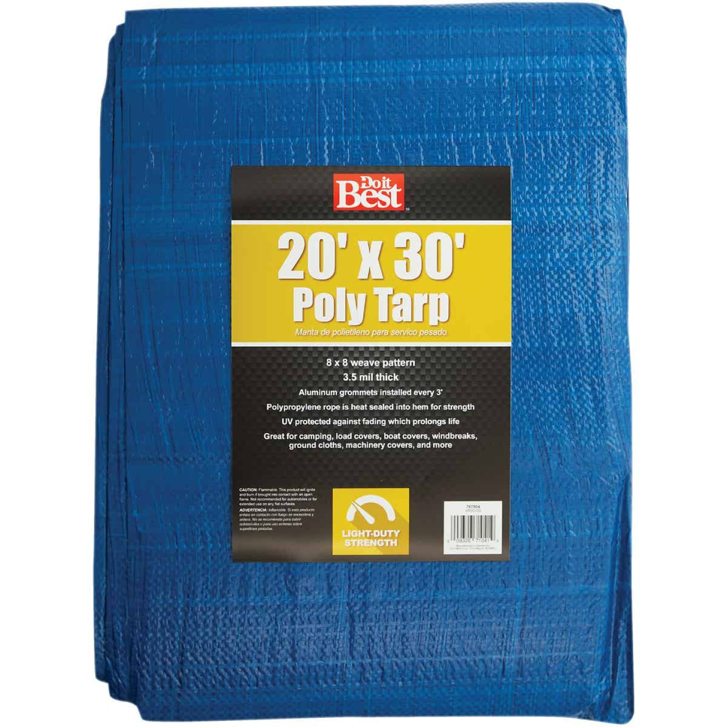 Do it Best Blue Woven 20 Ft. x 30 Ft. General Purpose Tarp Image 1