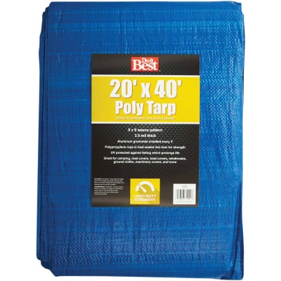 Do it Best Blue Woven 20 Ft. x 40 Ft. General Purpose Tarp